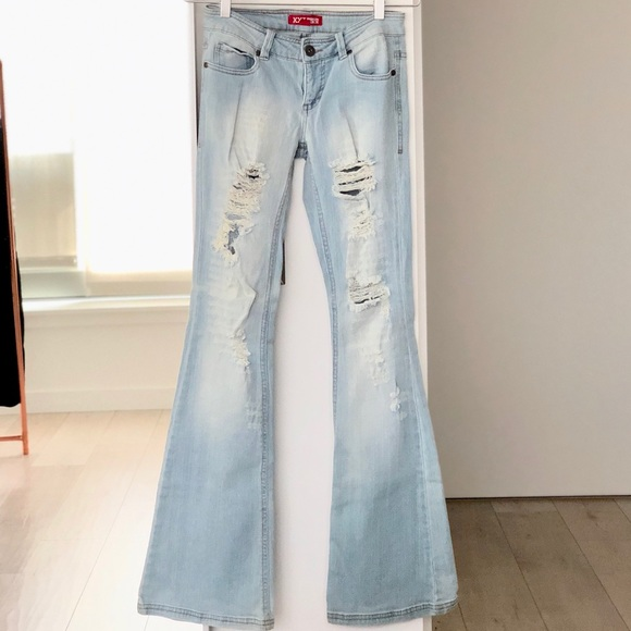 d987f9dac4a Forever 21 Jeans   Distressed Light Blue Bell Bottom   Poshmark